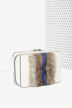 Stripe Down Faux Fur Crossbody | Shop What's New at Nasty Gal