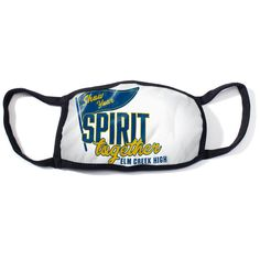 """Make a spirit-filled statement of solidarity at your high school, and keep students, teachers, and staff safe at the same time, with this fun Show Your Spirit Together Full-color Face Mask. Designed to be used over and over again, the durable, adult-size face covering measures approximately 5"""" high x 7"""" wide and includes black trim and built-in ear loops for to keep it secure during wearing. Elementary Schools, Comebacks, Special Events, Spirit, Classroom, Let It Be, Face, The Face, Elementary Education"""