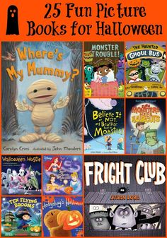 25 Fun Picture Books for Halloween - funny and not-so-scary choices for littles!