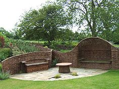 Willow spiling is the most common and best known green ...