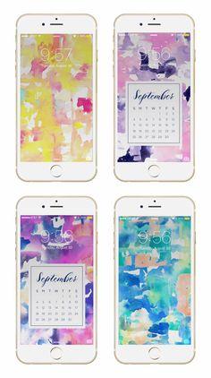 May Designs Blog - ABSTRACT COLOR WASH PHONE + DESKTOP WALLPAPER DOWNLOADS