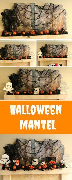How to decorate your mantel for Halloween