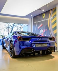 488GTB what a colour!  I think it's Tdf blue