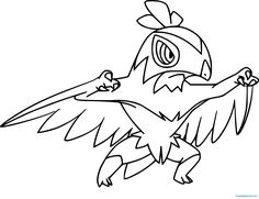pokemon noivern coloring pages   Pokemon Noivern Coloring Pages – From the thousands of ...