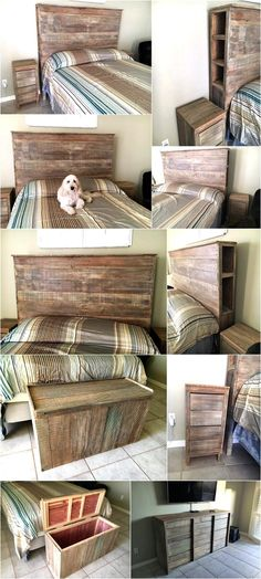 Coloring the wood pallets is not a necessity because they give a rustic look which makes every item seems amazing; one can place as many items made up of wood pallets as he/she wants for which we are here with a great idea of wood pallet powered bedroom. You can see multiple items created by reshaping the wooden pallets in the room and the room is looking impressive.