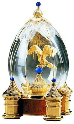 """Faberge Egg """"Royal Falcon Hunt"""" by Theo Fabergé Fabrege Eggs, Objets Antiques, Faberge Jewelry, Imperial Russia, Egg Art, Objet D'art, Egg Decorating, Russian Art, Jewelry Displays"""