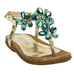 Kenneth Cole Reaction Girls Toddler Like Candy Jeweled Sandal #VonMaur