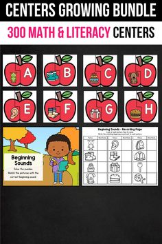 These English centers for kindergarten, preschool and first grade were a great addition in my classroom. My students use them for writing, math activities, practicing the alphabet and letter recognition, and even fine motor skills. It includes math practice centers, phonics (CVC words, sight words, CVCe words and other word work practice for fall, summer, spring and winter)