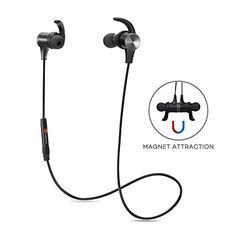 Bluetooth Headphones, TaoTronics Bluetooth 4.1 Stereo Magnetic Earphones, Secure Fit for Sport, GYM with Built-in Mic TaoTronics http://www.amazon.com/dp/B01763QHA0/ref=cm_sw_r_pi_dp_R0hBwb0Y12CVD