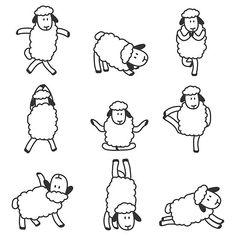 'Cute yoga sheeps ' by handcraftline Animal Yoga, Canvas Prints, Art Prints, Long Hoodie, Wood Print, Cotton Tote Bags, Laptop Sleeves, Decorative Throw Pillows, Chiffon Tops