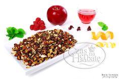 Apple, raspberry, rose rind, lemon rind, orange rind, hibiscus, mint ...