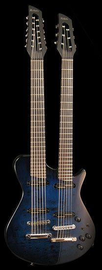 Veillette doubleneck electric guitar