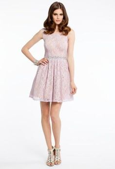 Two Tone Glitter and Lace Dress   Camillelavie.com #dresses #lace #pretty #elegant #camillelavie