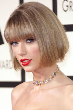 Taylor Swift Debuts Brand New Bob Hairstyle At The Grammys, 2016