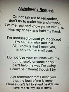 Alzheimer's prayer