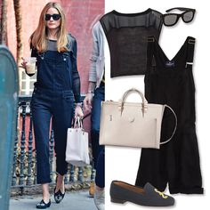 Outfit-Making Summer Totes - Look to a boxy silhouette to instantly elevate a pair of playful overalls (or shortalls). Tote: Zara, $100; zara.com Sunglasses: Italia Independent, $247; shopbop.com Top: Alice + Olivia, $176; aliceandolivia.com Shortalls: American Eagle, $40; ae.com Flats: Stubbs & Wootton for J.Crew, $400; jcrew.com - #InStyle
