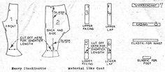 Commercial Pattern Archive - 1922 Description: CHILD'S LEGGINGS Size: 4 YRS W 22