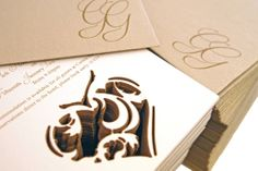 www.intricatecreations.co.uk - Royal Affection - Laser-Cut Invitation Bespoke