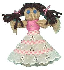 Our Dressy Yarn Doll is an updated version of the original yarn doll from the days when there wasn& a toy store on every corner. Crafts For Girls, Crafts To Do, Yarn Crafts, Kids Crafts, Doll Crafts, Sewing Crafts, Yarn Dolls, American Girl Crafts, Pom Pom Crafts