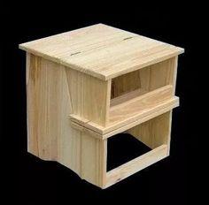 banquito escalera plegable de madera