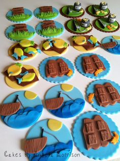 Fishing cupcake toppers via Etsy