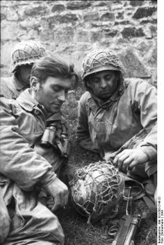 Normandy, Fallschirmjägers ( paratroopers). France 1944, pin by Paolo Marzioli