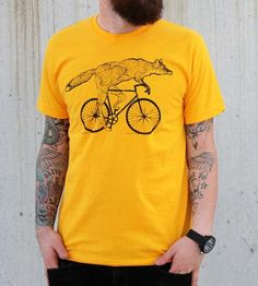Fox On A Bike T-Shirt | Men's T-Shirts | Dark Cycle Clothing | Scoutmob Shoppe | Product Detail
