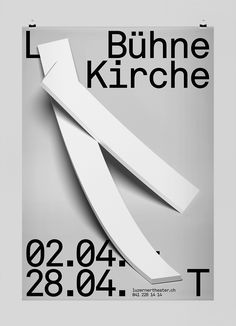 """Posters for The Luzerner Theater designed by Studio Feixen """"The Luzerner Theater is the only theater in Central Switzerland, which presents three different sectors of the performing arts (opera, plays..."""