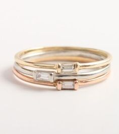 Catbird :: shop by category :: JEWELRY :: Rings :: Diamond Baguette Ring