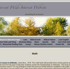 Lots of math resources, Ray's Arithmetic and others to download  http://www.donpotter.net/education_pages/math.html