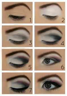 Eye makeup application blue eyes
