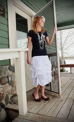 Prairie Princess skirt tutorial