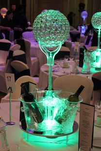 Ice bucket and Crystal Globe centre piece