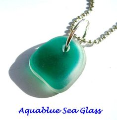 Drilled English Sea Glass Multi  Medium CHARM by aquablueseaglass, $8.99