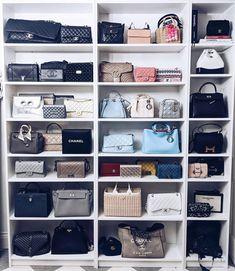 Closet Storage for Purses . Closet Storage for Purses . 51 Bag Closet Ideas for Women Dressing Chic, Dressing Room, Wardrobe Storage, Closet Storage, Walk In Wardrobe, Walk In Closet, Ideas De Closets, Closet Ideas, Bag Closet