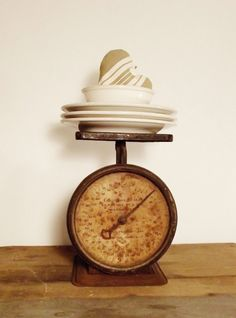 Vintage Kitchen Scale by thepetitemarket