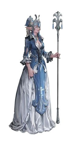 Female Elf Aristocrat Noble Queen - Pathfinder PFRPG DND D&D d20 fantasy
