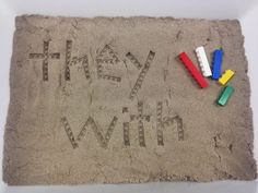 Kinetic sand and Lego Imprints! Hands on activities for Word Work stations