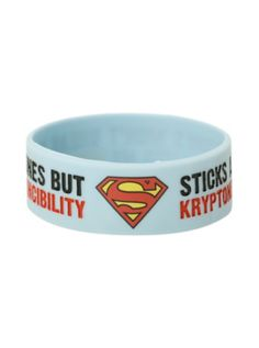 Superman Sticks And Stones Rubber Bracelet