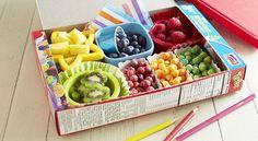 Rainbow Breakfast Bento Box DIY idea.  Perfect for kids!