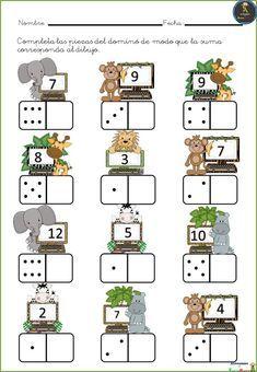 # first class lessons Kindergarten Math Worksheets, Preschool Learning Activities, Teaching Math, Preschool Activities, Numbers Preschool, First Grade Math, Math For Kids, Math Games, Math Centers