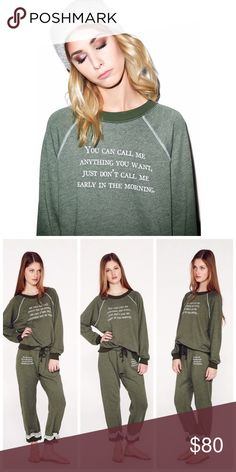 Wildfox | Call Me Kim's Sweater New without tags, color is pine.    • no paypal • no trades • no offers please - prices are firm • ask questions before buying • smoke free home • 20% discount on bundles • Wildfox Tops Sweatshirts & Hoodies