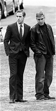 ryan gosling & george clooney