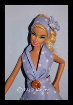 Polka dot Barbie dress