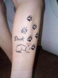Ferret footprint tattoo