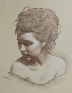 Scott Waddell, pencil, 2014 {contemporary figurative art beautiful female head woman face portrait drawing} scottwaddellfineart.com