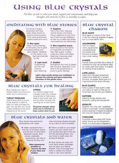 Crystals Stones:  MBSC #Crystals ~ Using Blue Crystals.