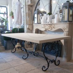 Limestone Topped Table - Authentic Provence