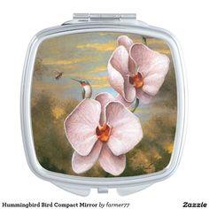 Hummingbird Bird Compact Mirror. Regalos, Gifts. #espejo #mirror #DiaDeLasMadres #MothersDay