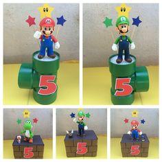 Super Mario Party, Super Mario Birthday, Mario Birthday Party, 6th Birthday Parties, Super Mario Bros, Birthday Ideas, Nintendo Party, Mario Und Luigi, Mario Bros.